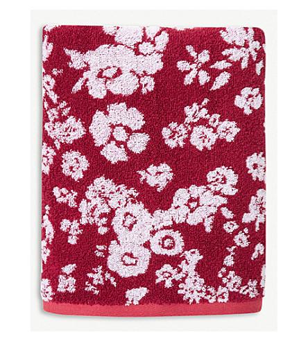 YVES DELORME Milfiori cotton towel (Grenade