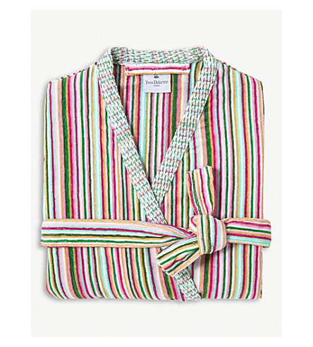 YVES DELORME Rivages Flamant cotton bathrobe (Flamant