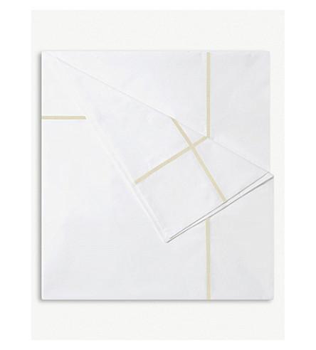 YVES DELORME Athena cotton duvet cover (Honey
