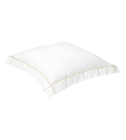 YVES DELORME Athena square pillowcase (Honey