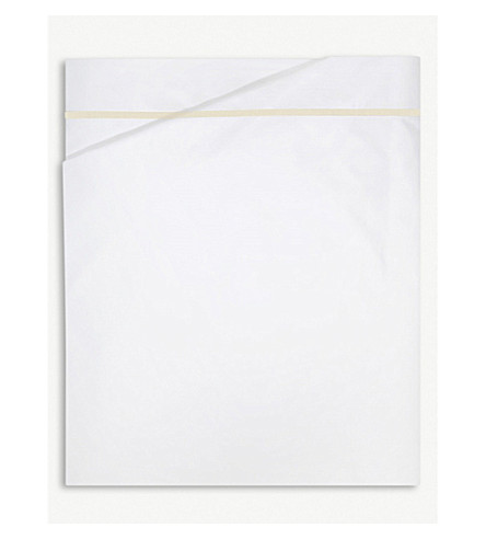 YVES DELORME Athena cotton flat bed sheet (Honey