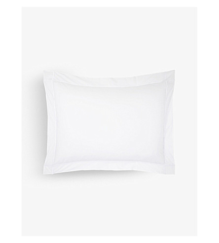 YVES DELORME Athena double pillowcase 50x75cm (Blanc
