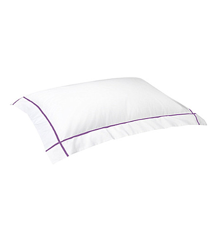 YVES DELORME Athena standard cotton pillowcase 50x75cm (Bruyere