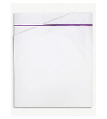 YVES DELORME Athena cotton flat bed sheet (Bruyere