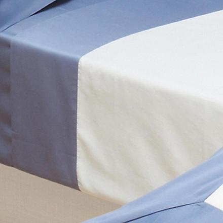 YVES DELORME Cocon Platine flat sheet (Baltic