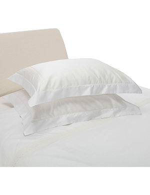 YVES DELORME Laurier Nacre pillowcase