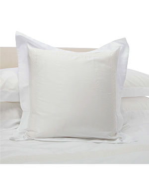 YVES DELORME Laurier Nacre square pillowcase