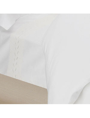 YVES DELORME Laurier Nacre flat sheet