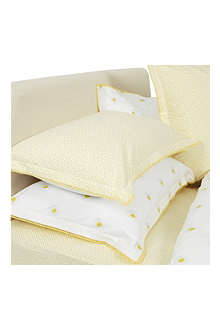 YVES DELORME Alafolie Jaune pillowcase