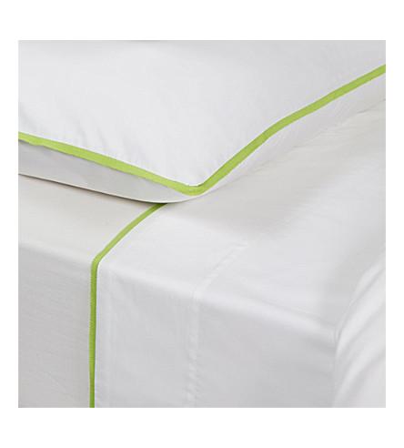 YVES DELORME Amity Vert flat sheet