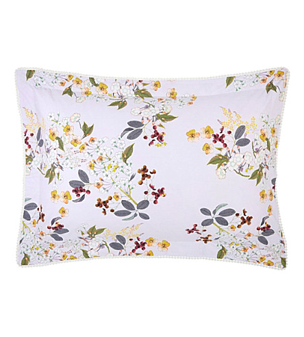 YVES DELORME Louise standard cotton pillow case (Amande