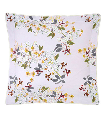 YVES DELORME Louise square cotton pillow case (Amande