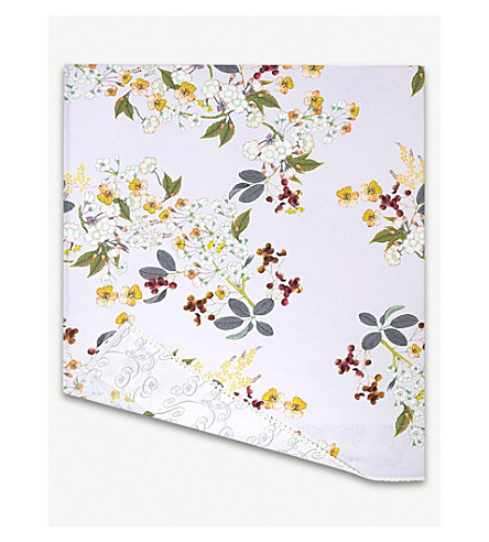 YVES DELORME Louise cotton flat sheet (Amande