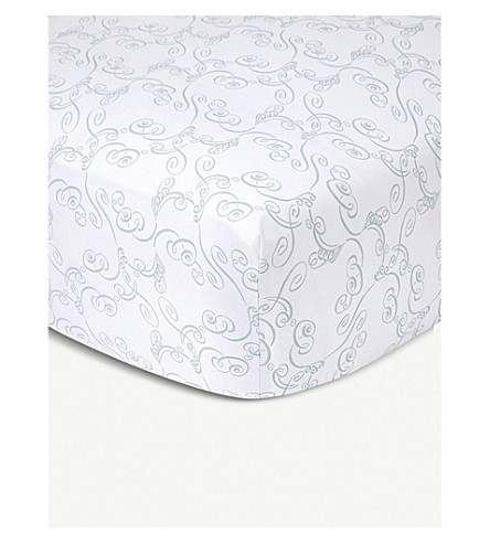 YVES DELORME Louise cotton fitted sheet (Amande