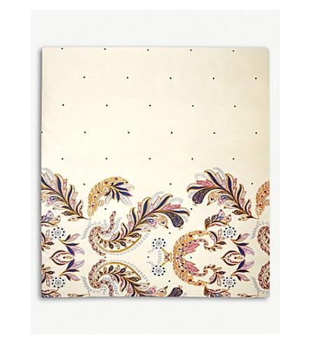 YVES DELORME Parure Egyptian-cotton single duvet cover (Ivoire