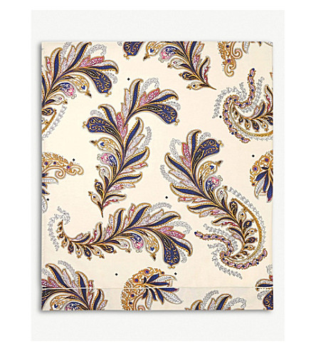 YVES DELORME Parure Egyptian-cotton single flat sheet (Ivoire