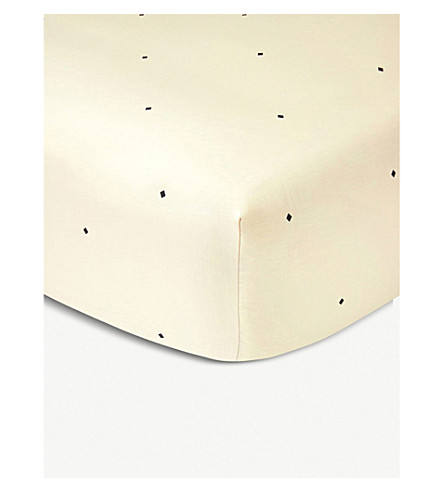 YVES DELORME Parure super king-size fitted sheet (Ivoire