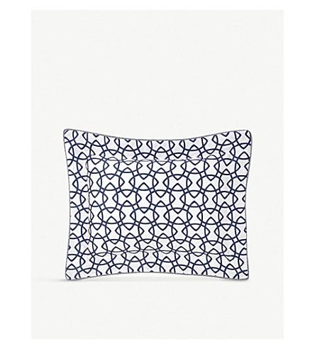 YVES DELORME Entrelacs 船用打印棉枕套 (海洋