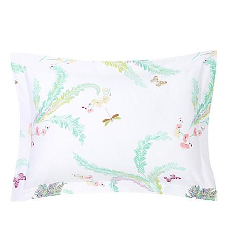 YVES DELORME Evasion Menthe cotton pillow case 75x50cm (Menthe