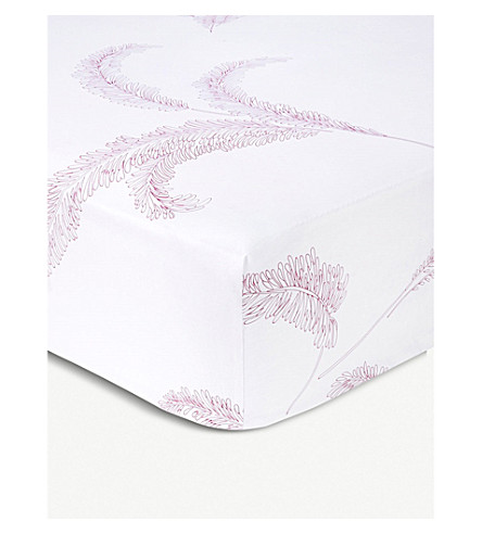 YVES DELORME Evasion Menthe cotton single fitted sheet (Menthe