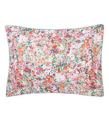YVES DELORME Milfiori Grenade cotton pillow case 75x50cm (Grenade