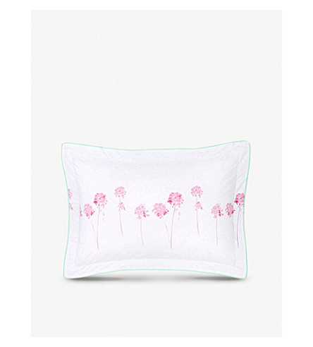 YVES DELORME Rivages Flamant cotton pillowcase (Flamant