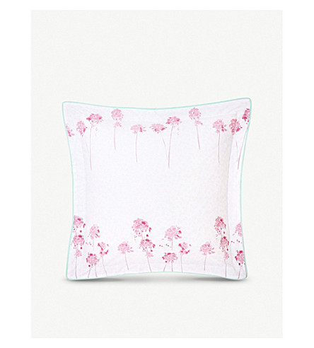 YVES DELORME Rivages Flamant square cotton pillowcase (Flamant