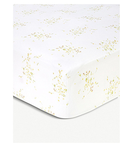 YVES DELORME Senteur cotton fitted sheet (Pollen