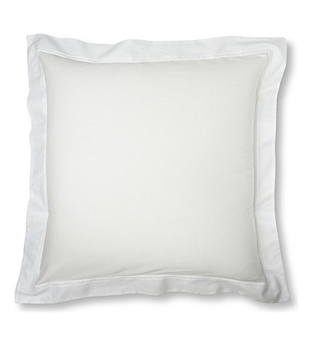 YVES DELORME Triomphe square pillowcase (Blanc