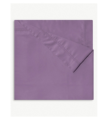 YVES DELORME Triomphe sateen cotton flat sheet (Bruyere