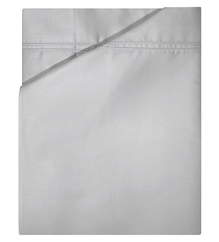 YVES DELORME Triomphe single cotton fitted sheet (Silver