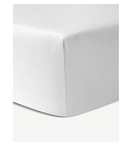 YVES DELORME Triomphe cotton fitted sheet (Blanc
