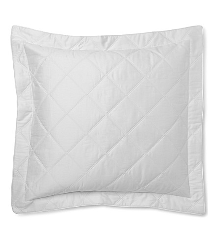 YVES DELORME Triomphe quilted square pillow case (Blanc