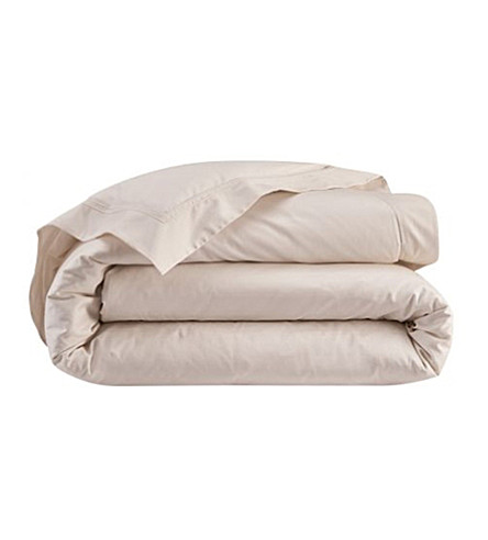 YVES DELORME Triomphe cotton single duvet cover (Nacre