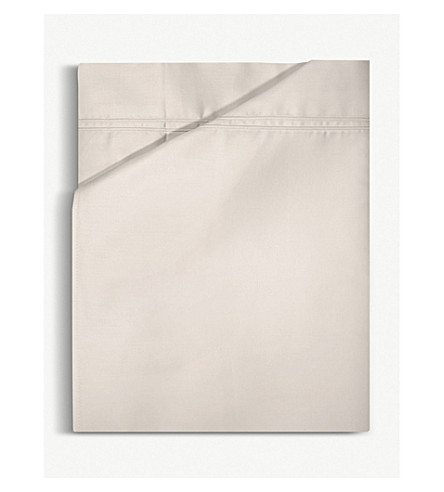 YVES DELORME Triomphe double cotton flat sheet (Nacre