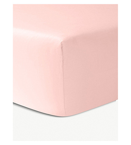 YVES DELORME Triomphe cotton fitted sheet (Blush
