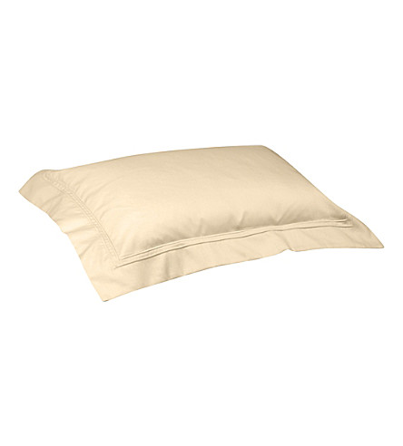 YVES DELORME Triomphe oxford cotton pillowcase 50x75cm (Honey