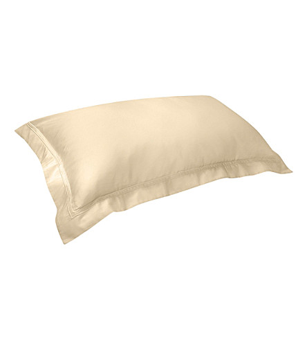 YVES DELORME Triomphe king cotton pillowcase 50x90cm (Honey
