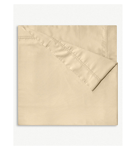 YVES DELORME Triomphe cotton flat sheet (Honey