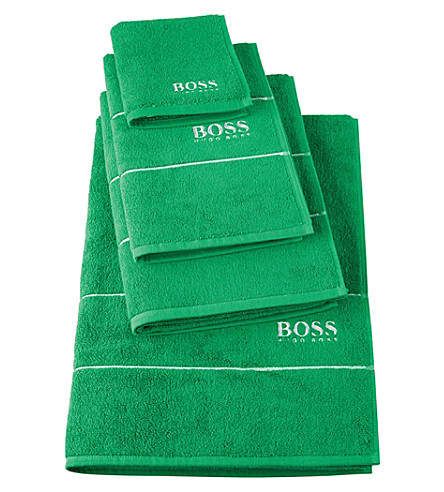 BOSS Plain egyptian cotton towel (Palm