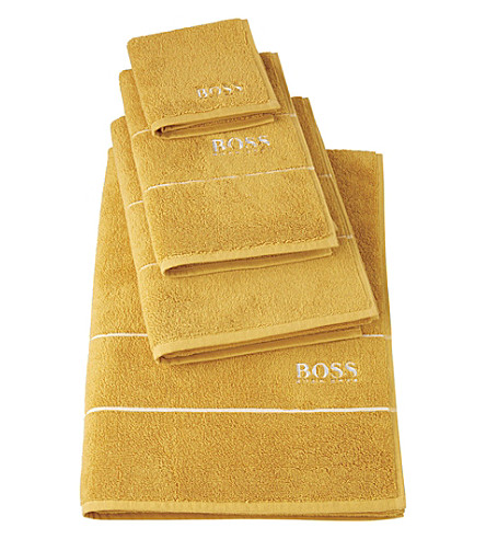 BOSS Plain egyptian cotton towel (Topaze
