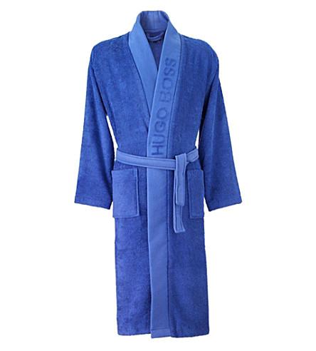 BOSS Plain kimono cotton dressing gown (Touareg