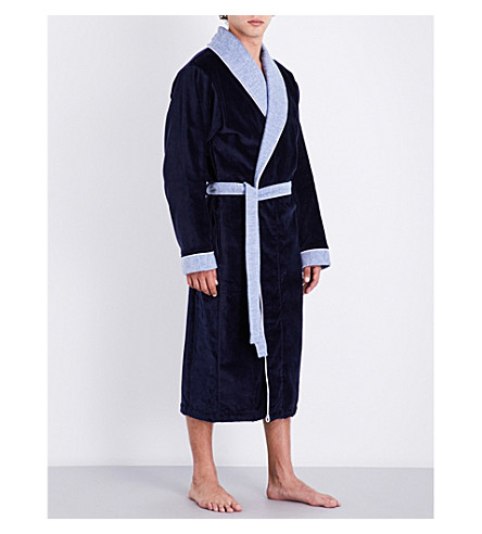 BOSS Lord Kimono dressing gown (Navy