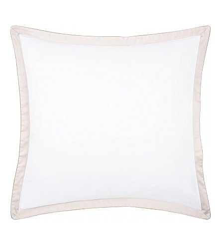 BOSS Lord nacre square cotton pillowcase (Nacre