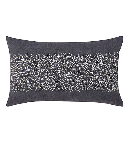 BOSS Nebula Saphir chambray cushion cover (Saphir