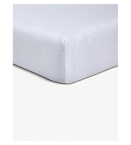 BOSS Oceanwave cotton fitted sheet (Sand