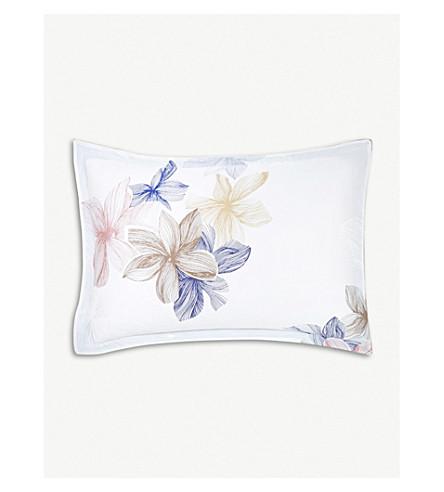 BOSS Windrose cotton pillowcase 75cm x 50cm (Stone