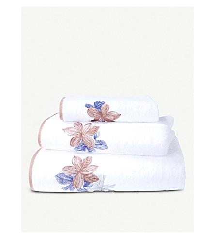 BOSS Windrose cotton hand towel 100cm x 50cm (White