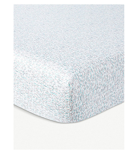 KENZO Wild graphic-print single fitted sheet 90x200cm (Multi