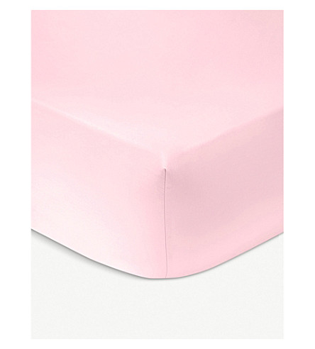 KENZO Iconic single fitted cotten sheet 200cmx90cm (Rose